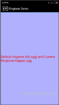 Android Ringtone and RingtoneManager Example | Get Default and