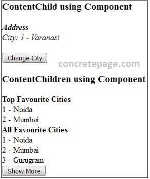 Angular 2/4 @ContentChild and @ContentChildren Example