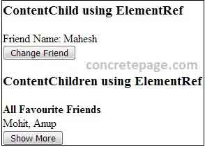 Angular 2/4 @ContentChild and @ContentChildren Example