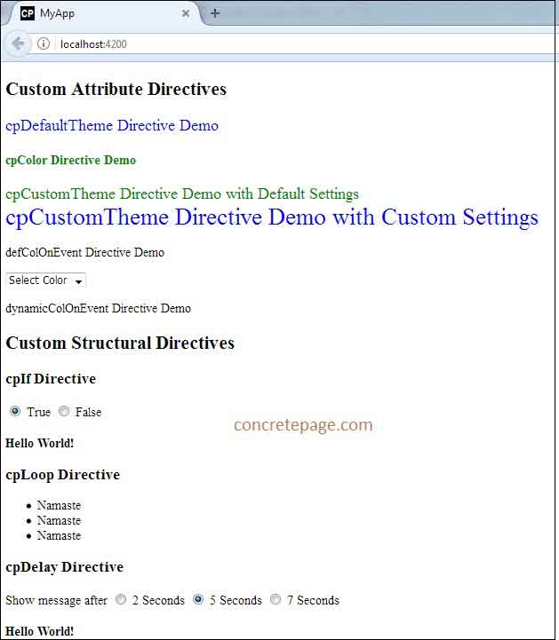 Angular 2 Custom Directives Example