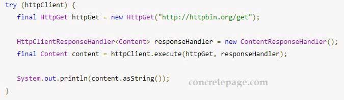 Apache HttpClient Response Handler