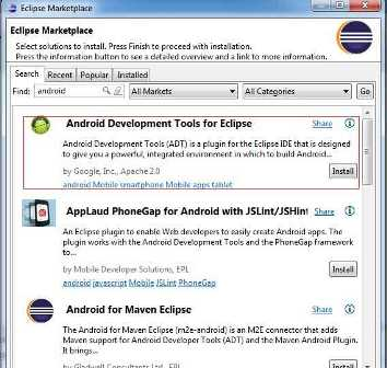 How to Install Android SDK and ADT Plugin in Eclipse Kepler
