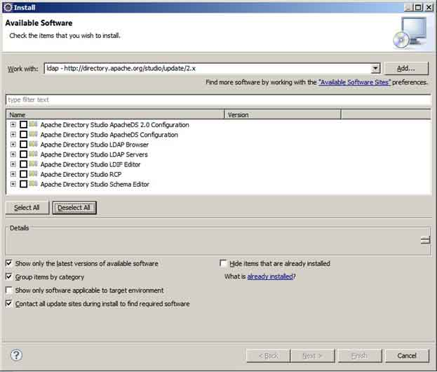 Create Local LDAP Server in Eclipse with Apache Directory Studio