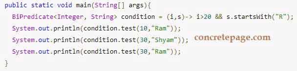Java 8 BiConsumer, BiFunction and BiPredicate Example