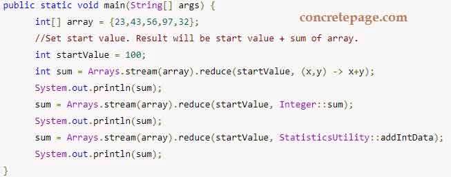 Java 8 Stream reduce() Example