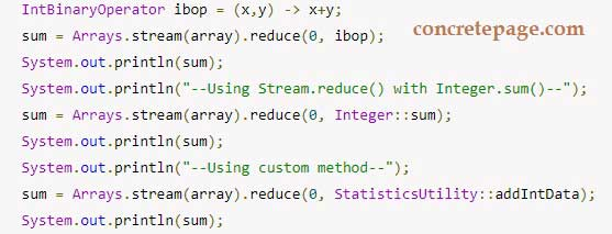 Java 8 Sum: Array, Map and List Collection Example using