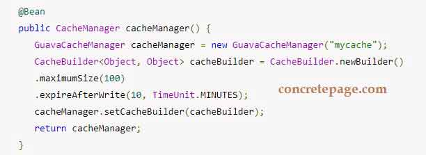Spring 4 + Guava Cache Integration Example with