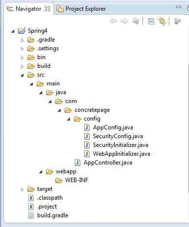 Spring 4 MVC Security Annotation Login Example with Gradle