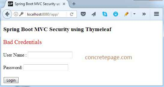 Spring Boot MVC Security Custom Login and Logout + Thymeleaf + CSRF