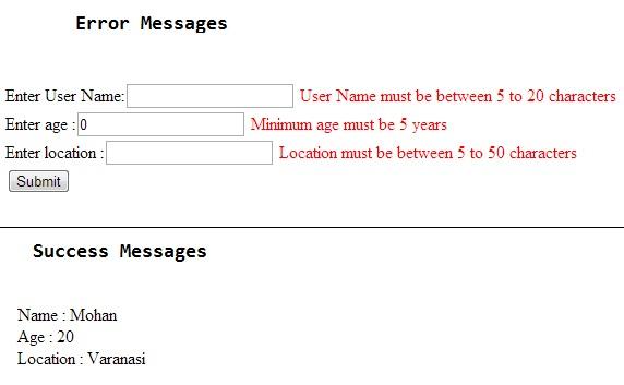 MVC Form Validation Using Annotations