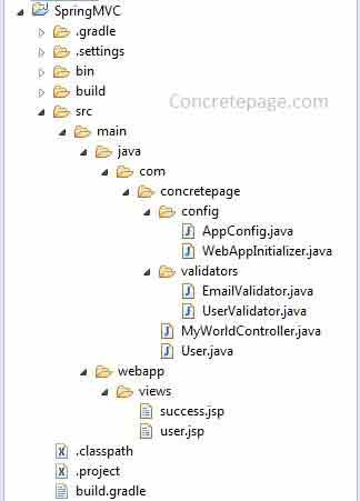 Spring MVC Custom Validator Example