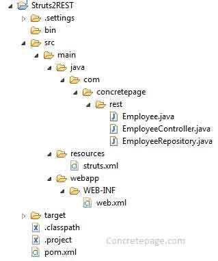 Struts 2 + REST Web Service Integration Example