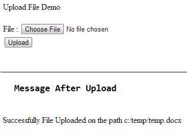 Upload File Using RESTful Web Services with JAX-RS